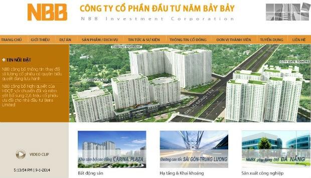 Chủ đầu tư dự án căn hộ Diamond Riverside - Công ty cổ phần đầu tư Năm Bảy Bảy (NBB)